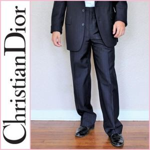 Christian Dior Monsieur Navy Pinstripe Dress Pants